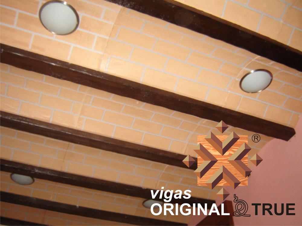 Vigas de imitaci n madera r tulos americano - Vigas decorativas imitacion madera ...